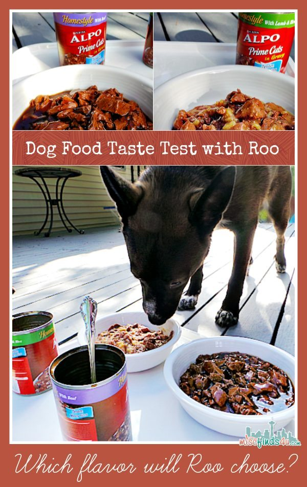 Roo does a ALPO wet food taste test - ad