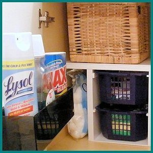 Bathroom Organization by Pregnant with Power Tools