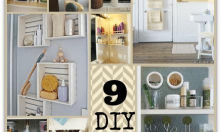 Bathroom Organization – Easy DIY Projects