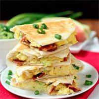 Breakfast Quesadillas recipe by Iowa Girl Eats