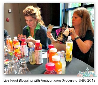 Live Food Blogging with Amazon.com Grocery at IFBC 13