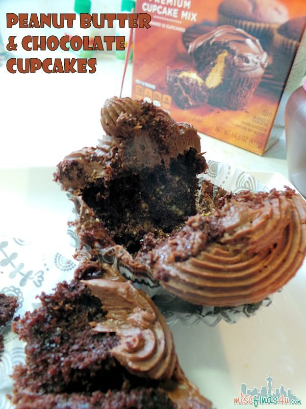 Peanut Butter and Chocolate Cupcakes and Semi-Homemade Jelly Cupcakes #MyBlogSpark ad