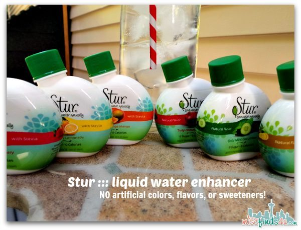 Stur - water enhancer - No artificial colors flavors or sweeteners - ad