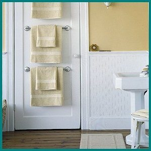 Towel Bar Trio - organize and dry towels by Martha Stewart