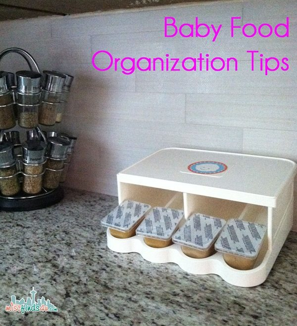 Baby Food Organization Tips using a PRK Baby Food Organizer - Ad