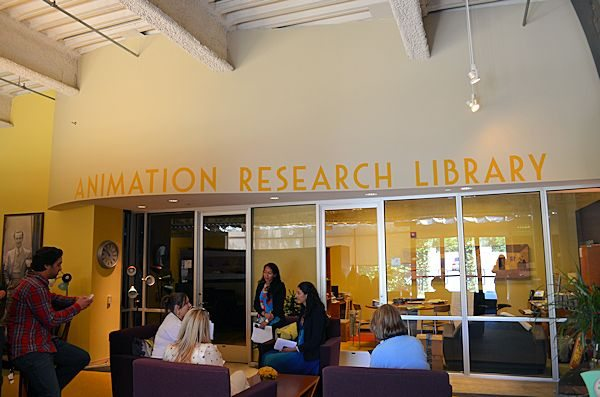 Disney Animation Research Library Lobby - photo credit Disney