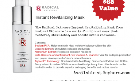 Win a $65 RADICAL Skincare Instant Revitalizing Mask