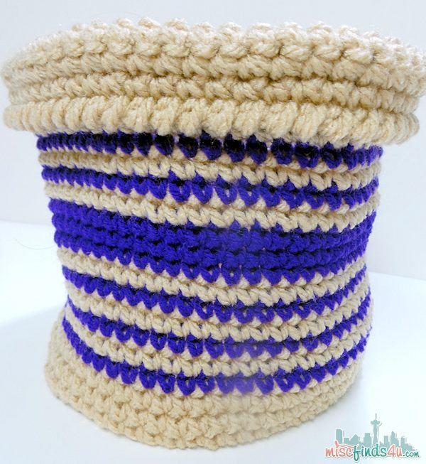 Free crochet pattern - fold over basket or cache pot