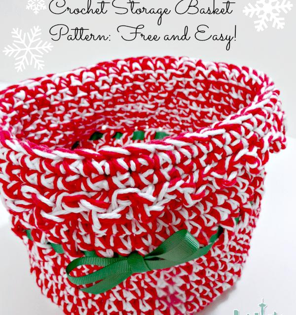 Free Holiday Crochet Patterns: Ribbon Basket
