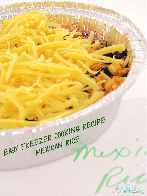 Easy Freezer Cooking Recipes - Mexican Rice