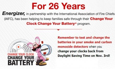 Fire Safety: Change Your Clock Change Your Battery