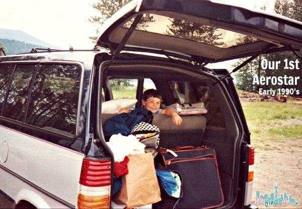 Our First Aerostar Van - Early 1990s - that little boy is 27 now.  #CMAXDrive ad