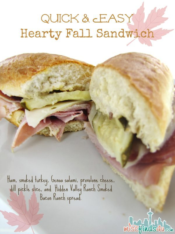 Quick and easy fall sandwich recipe - Hidden Valley Ranch Spread - Ad