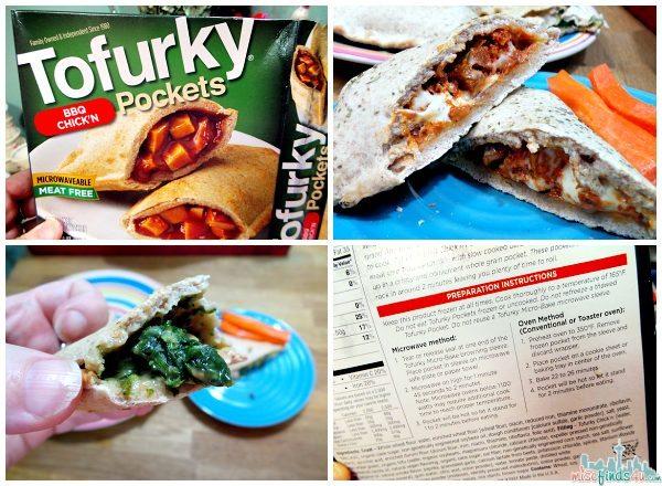 Tofurky Pockets BBQ Chick'n Mozzarella and Spinach