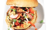 Vietnamese Banh Mi Chicken Burger