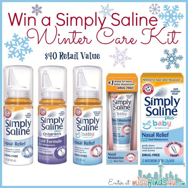 Win a Simply Saline Winter Care Kit