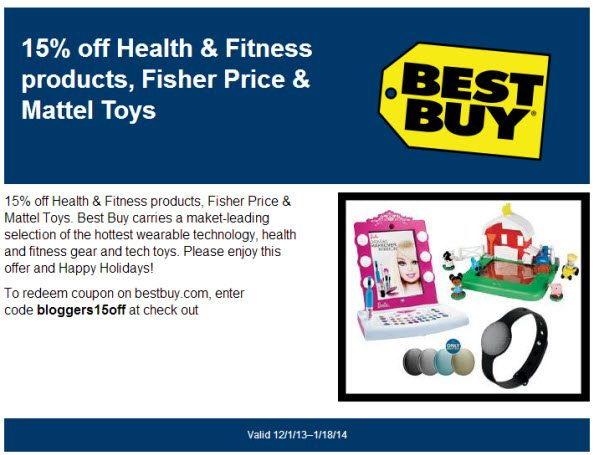 Best Buy 15  percent off coupon in store or online