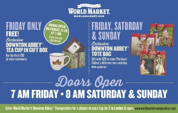 Cost Plus World Market Black Friday Giveaway - Downton Abbey Cup and Tote Bags #DotTheDownton