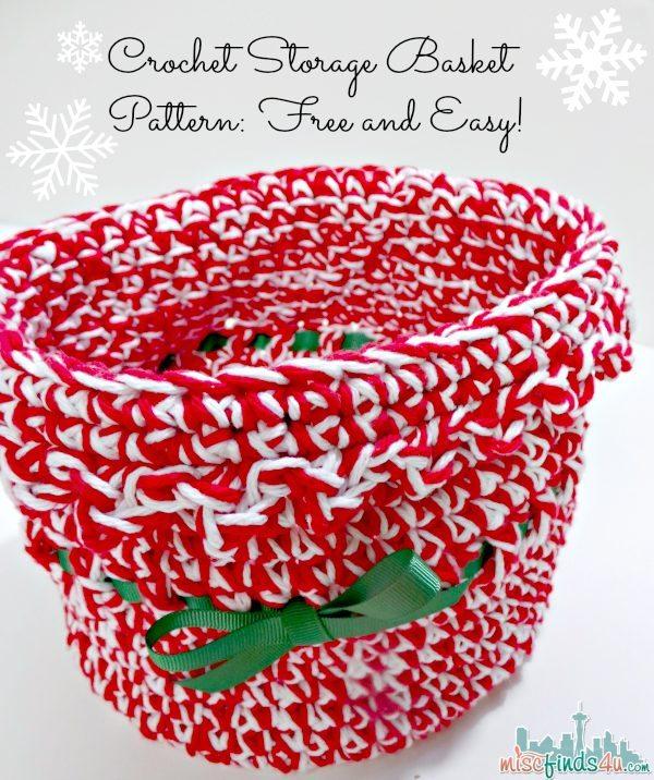 Free Crochet Storage Basket - Christmas #free #easy #crochet #Pattern