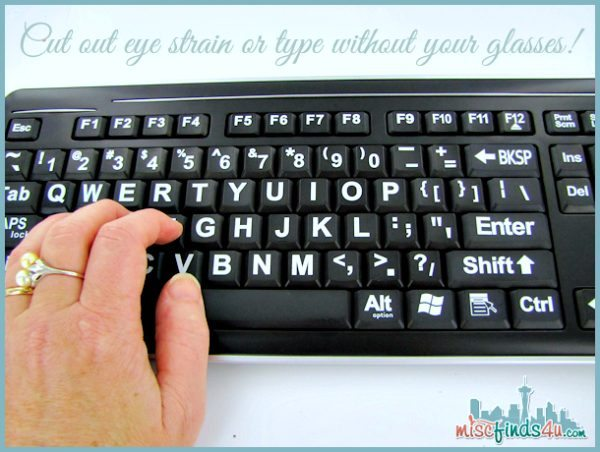 Large Font Keyboard VisiKey - for sight impaired, seniors, and kids - Ad