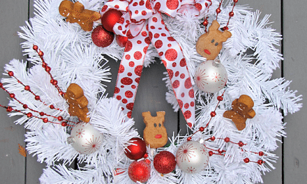 Gingerbread Peeps Holiday Wreath