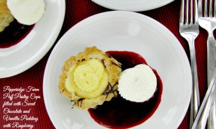 Vanilla Raspberry and Chocolate Puff Pastry