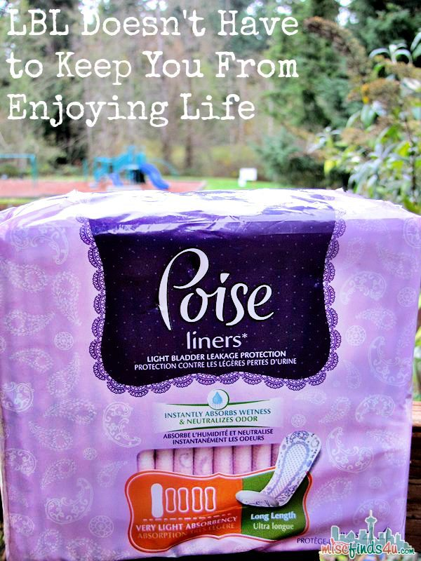 Poise Liners - LBL Doesn't Have to Stop You From Enjoying Life