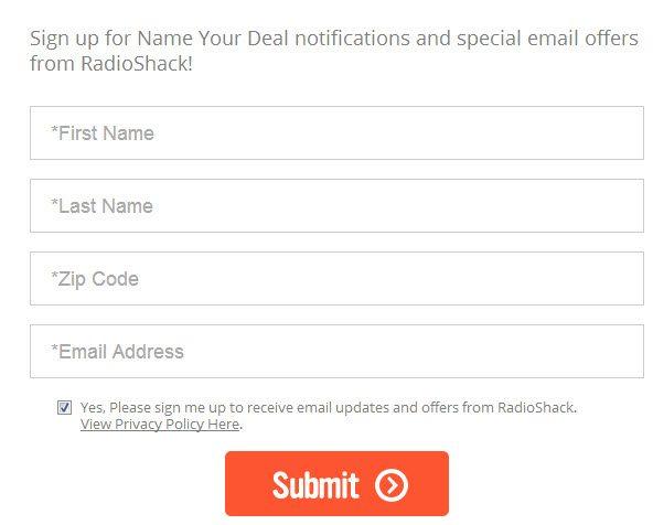 RadioShack Name Your Deal Voting