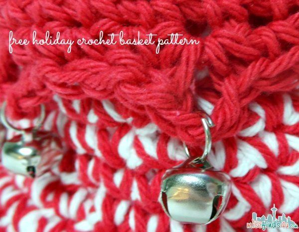 Free Holiday Crochet Patterns: Jingle Bells Basket