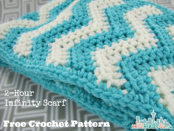 2 hour free infinity scarf pattern