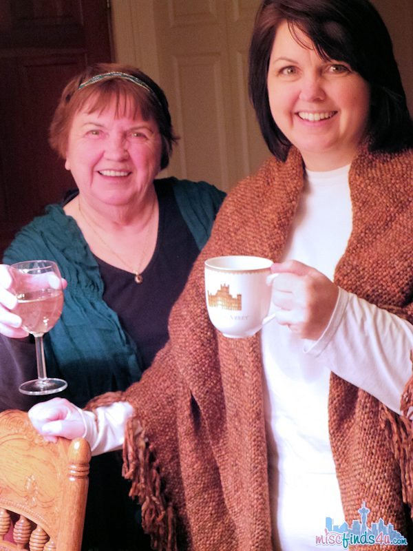 My mother and my sister World Market Downton Abbey Tea Party @worldmarket #DotheDownton ad
