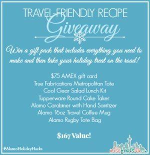 Alamo Travel Friendly Recipe Contest #AlamoHolidayHacks  ad
