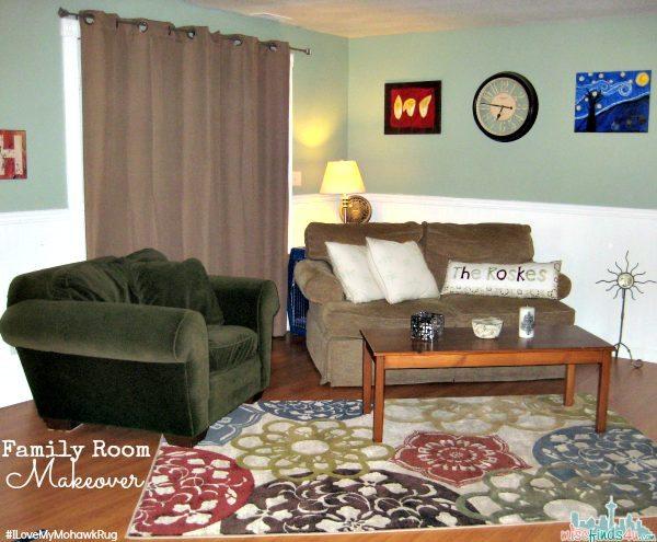 Family Room Makeover - Mohawk Rug #ILoveMyMohawkRug ad