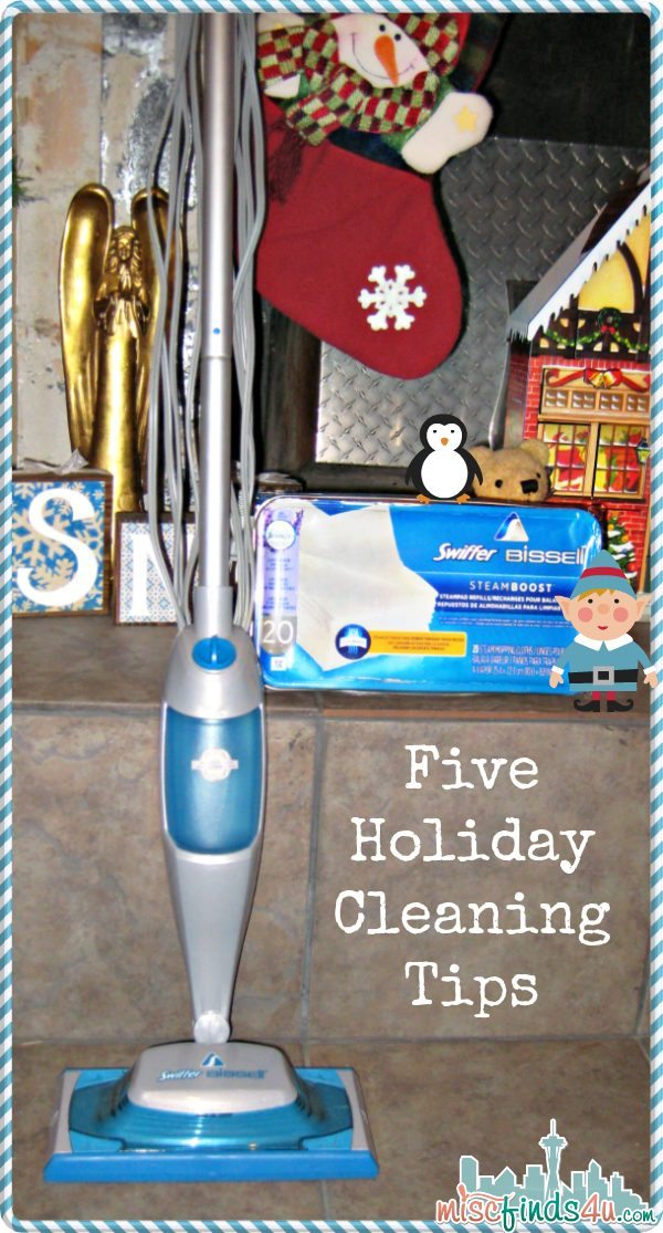 Five Holiday Cleaning Tips - @swiffer #steamboost #ad