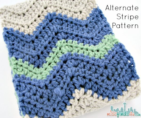 Free Chevron Infinity Scarf Pattern - Alternative Stripe Pattern