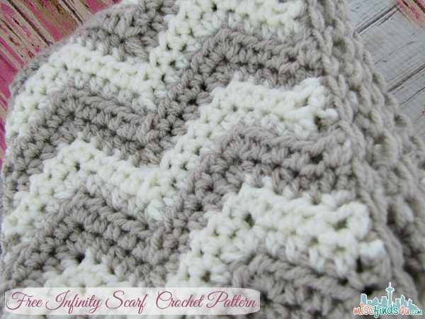 Crochet Infinity Scarf Pattern For Child : Free Chevron Infinity Scarf Crochet Pattern - Baby to ...