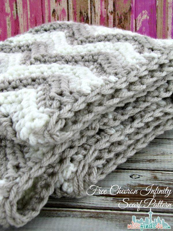 Free Crochet Pattern For Zig Zag Scarf : Free Chevron Infinity Scarf Crochet Pattern - Baby to ...