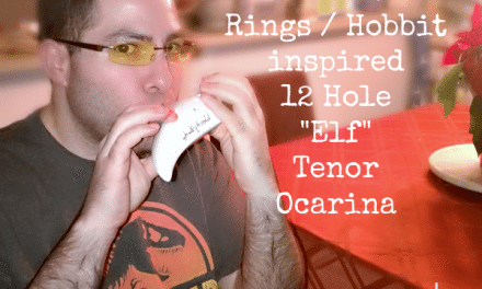 12 Hole Elf Tenor Ocarina Inspired by LOTR and Hobbit