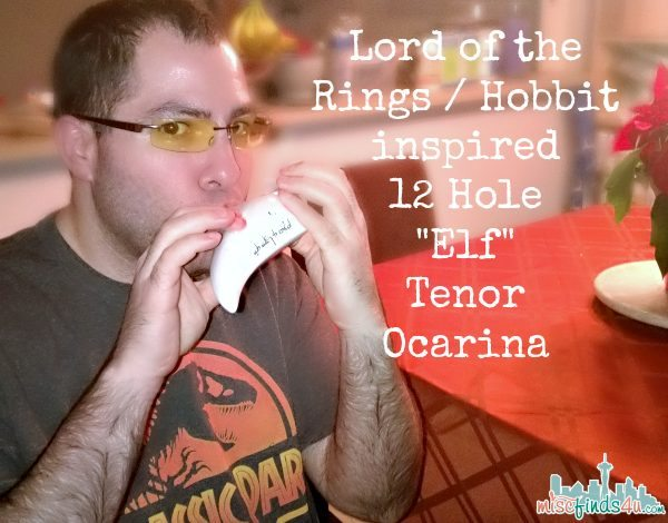 Lord of the Rings Hobbit inspired  12 Hold Elf Tenor Ocarina - AD