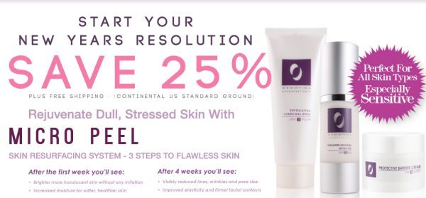 New Years Resolution: Take Care of Your Skin! - Osmotics New Year Special Offer ad