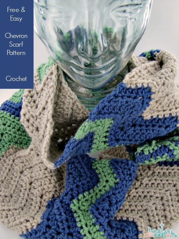 Free Chevron Infinity Scarf Crochet Pattern Baby To