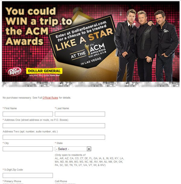 Win a trip to the ACM Awards - ad