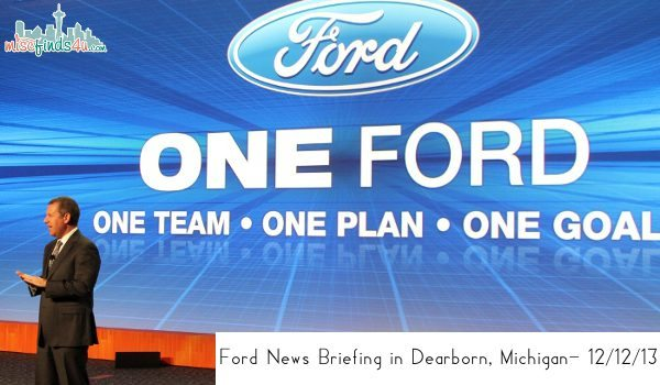 Ford News Briefing in Dearborn, Michigan- 12/12/13