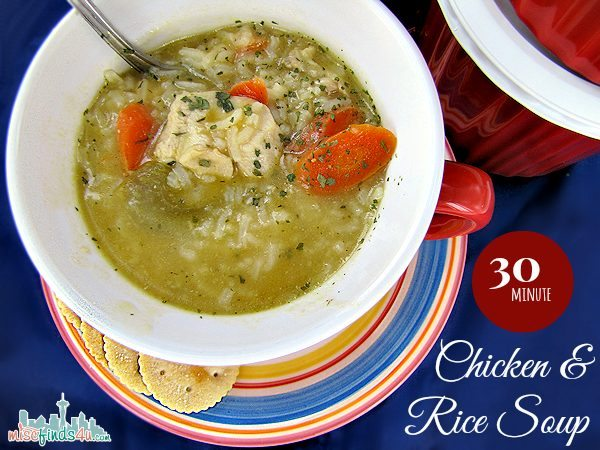 30-Minute Chicken and Rice Soup Recipe