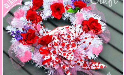 Dollar Store Crafts: Valentine's Day Wreath #dollartree
