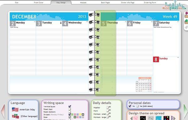 planner copy