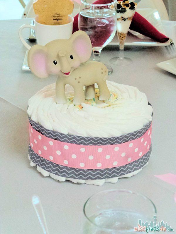 diaper cake baby shower centerpiece