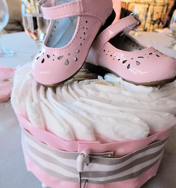 How To Make Baby Shower Diaper Cake: Baby Shower Ideas: Diaper Cake Centerpiece Tutorial