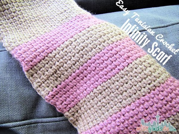 Tunisian Crochet Free Infinity Scarf Pattern Baby To Boomer Lifestyle Interesting Tunisian Crochet Scarf Pattern