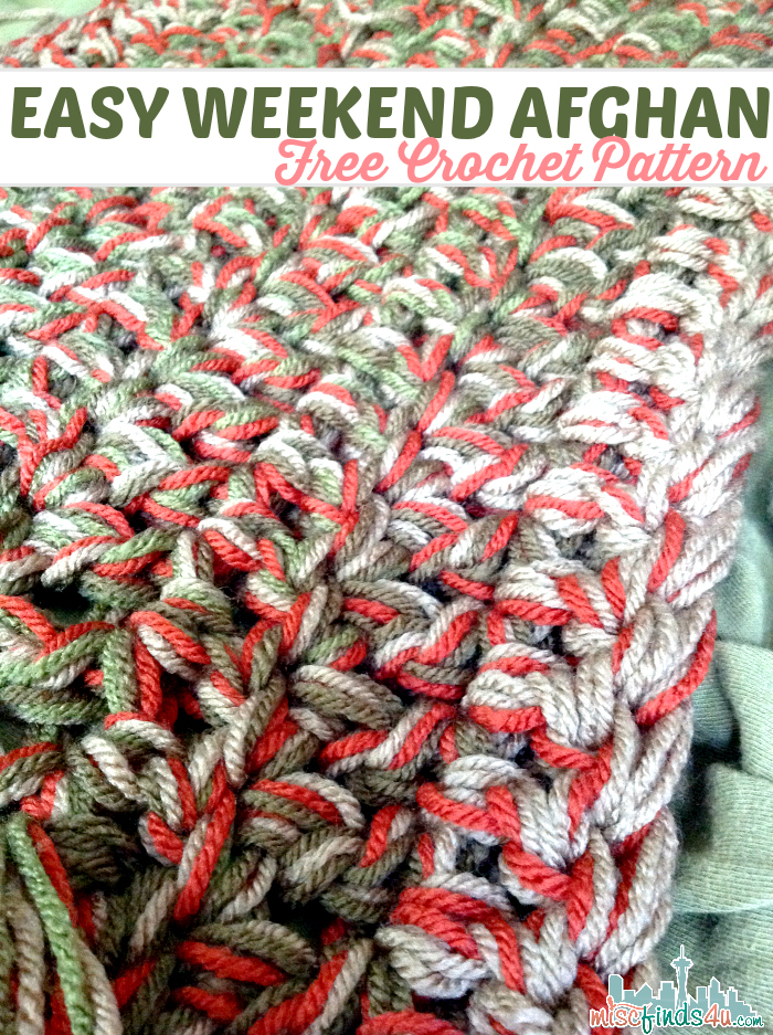 Easy Crochet Afghan : Easy Weekend Crochet Afghan Patterns Free Crochet Pattern Weekend